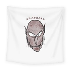 Scary Vampire Drawing Square Tapestry (large)