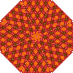 Argyle Pattern Background Wallpaper In Brown Orange And Red Hook Handle Umbrellas (Small)