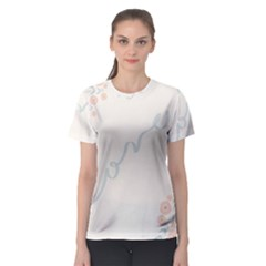 Love Card Flowers Women s Sport Mesh Tee