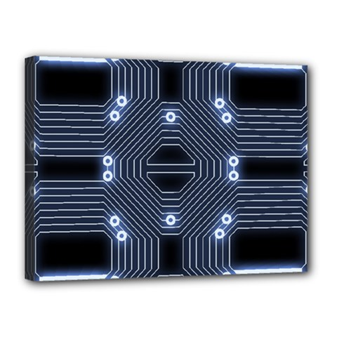 A Completely Seamless Tile Able Techy Circuit Background Canvas 16  X 12