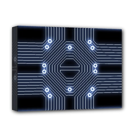 A Completely Seamless Tile Able Techy Circuit Background Deluxe Canvas 16  X 12