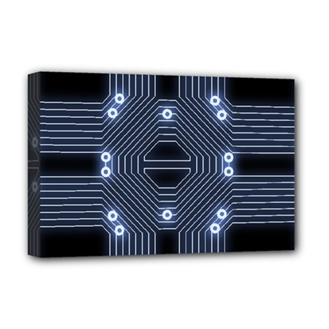A Completely Seamless Tile Able Techy Circuit Background Deluxe Canvas 18  x 12