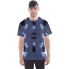 A Completely Seamless Tile Able Techy Circuit Background Men s Sport Mesh Tee