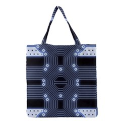 A Completely Seamless Tile Able Techy Circuit Background Grocery Tote Bag