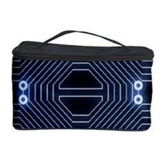 A Completely Seamless Tile Able Techy Circuit Background Cosmetic Storage Case