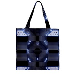 A Completely Seamless Tile Able Techy Circuit Background Zipper Grocery Tote Bag