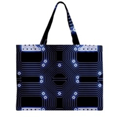 A Completely Seamless Tile Able Techy Circuit Background Zipper Mini Tote Bag
