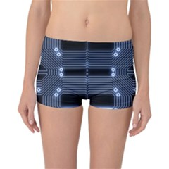 A Completely Seamless Tile Able Techy Circuit Background Reversible Bikini Bottoms