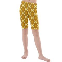 Snake Abstract Background Pattern Kids  Mid Length Swim Shorts