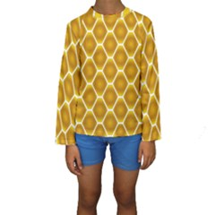 Snake Abstract Background Pattern Kids  Long Sleeve Swimwear