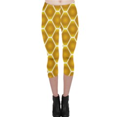 Snake Abstract Background Pattern Capri Leggings