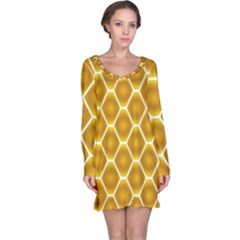 Snake Abstract Background Pattern Long Sleeve Nightdress