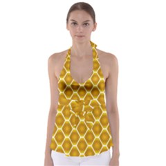 Snake Abstract Background Pattern Babydoll Tankini Top