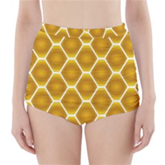 Snake Abstract Background Pattern High Waisted Bikini Bottoms