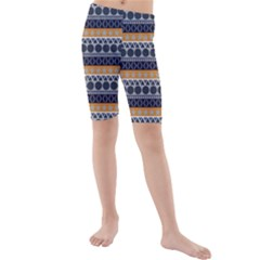 Seamless Abstract Elegant Background Pattern Kids  Mid Length Swim Shorts
