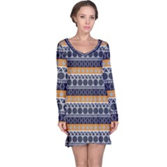 Seamless Abstract Elegant Background Pattern Long Sleeve Nightdress