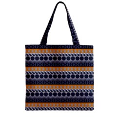 Seamless Abstract Elegant Background Pattern Zipper Grocery Tote Bag