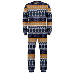 Seamless Abstract Elegant Background Pattern Onepiece Jumpsuit (men)