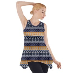 Seamless Abstract Elegant Background Pattern Side Drop Tank Tunic