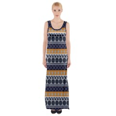 Seamless Abstract Elegant Background Pattern Maxi Thigh Split Dress