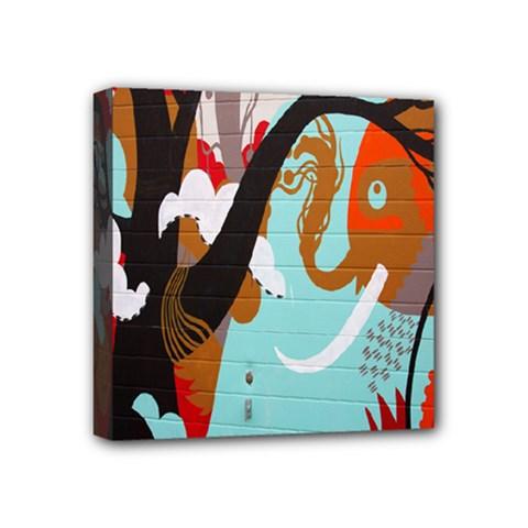 Colorful Graffiti In Amsterdam Mini Canvas 4  X 4