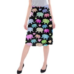 Cute elephants  Midi Beach Skirt