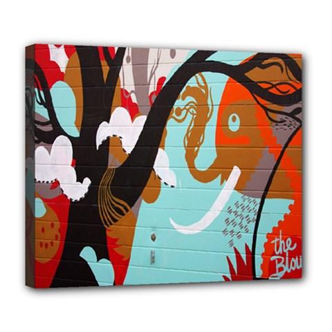 Colorful Graffiti In Amsterdam Deluxe Canvas 24  x 20