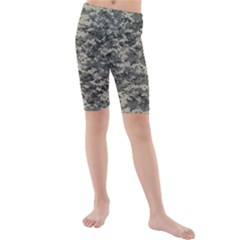 Us Army Digital Camouflage Pattern Kids  Mid Length Swim Shorts