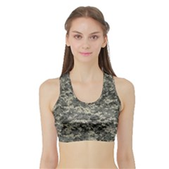 Us Army Digital Camouflage Pattern Sports Bra With Border