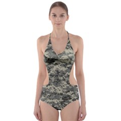 Us Army Digital Camouflage Pattern Cut-Out One Piece Swimsuit