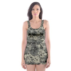 Us Army Digital Camouflage Pattern Skater Dress Swimsuit