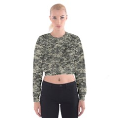 Us Army Digital Camouflage Pattern Women s Cropped Sweatshirt