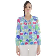 Cute elephants  Wind Breaker (Women)