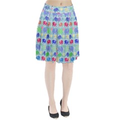 Cute elephants  Pleated Skirt