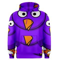 Cartoon Bird Purple Men s Pullover Hoodie