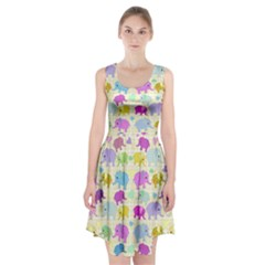 Cute elephants  Racerback Midi Dress