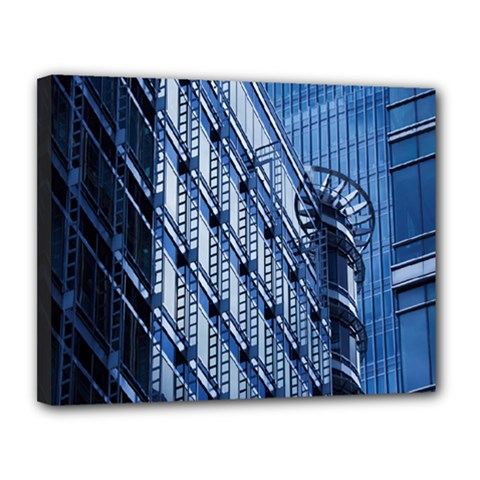 Building Architectural Background Canvas 14  X 11