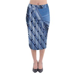Building Architectural Background Midi Pencil Skirt