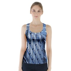 Building Architectural Background Racer Back Sports Top