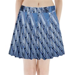Building Architectural Background Pleated Mini Skirt