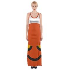 Devil Maxi Thigh Split Dress