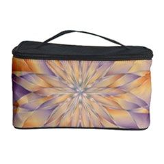 Chromatic Flower Gold Star Floral Cosmetic Storage Case