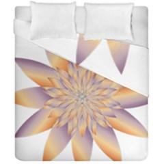 Chromatic Flower Gold Star Floral Duvet Cover Double Side (california King Size)