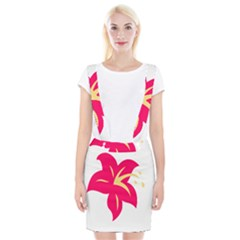 Flower Floral Lily Blossom Red Yellow Suspender Skirt
