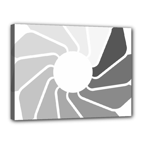 Flower Transparent Shadow Grey Canvas 16  X 12