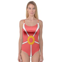 Flower With Heart Shaped Petals Pink Yellow Red Camisole Leotard