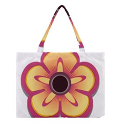 Flower Floral Hole Eye Star Medium Tote Bag