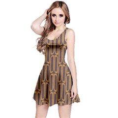 Chains Abstract Seamless Reversible Sleeveless Dress