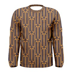 Chains Abstract Seamless Men s Long Sleeve Tee
