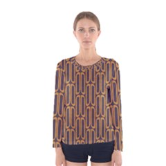 Chains Abstract Seamless Women s Long Sleeve Tee
